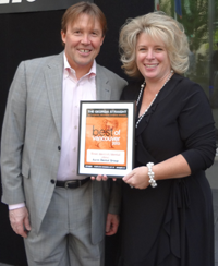 Kim Lacusta & Dr. Jim Armstrong GS 2013 Winner's Ceremony